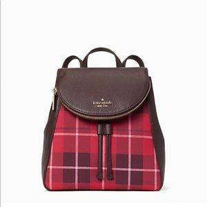 Kate Spade Plaid Medium Backpack